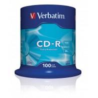 Verbatim CD-R 52x 700MB 100P CB DL Ex Prot 43411