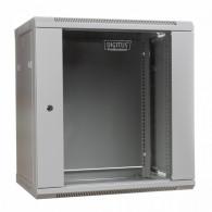 Digitus Wall mount cabinet 19 12U 635/600/450mm, glass door, grey (RAL 7035)