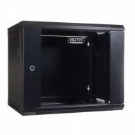 Digitus Wall mount cabinet 19 9U 501/600/450mm, glass door, black (RAL 9004)