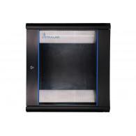 Extralink Wall cabinet rack 12U 600x450 black glass door