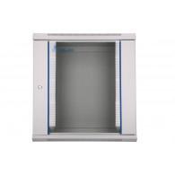 Extralink Wall cabinet rack 12U 600x450 gray glass door