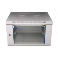 Extralink Wall cabinet rack 6U 600x450 gray glass door