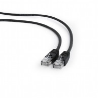 "Gembird Patch cord cat. 5E molded strain relief 50u"" plugs, 1 m, Black"