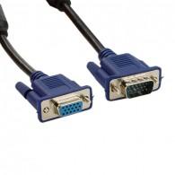 4world Extension cable D-Sub15 SVGA | M / F | 10m | ferrite | black