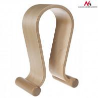 Maclean Headphones Stand Wooden Light Oak MC-815O