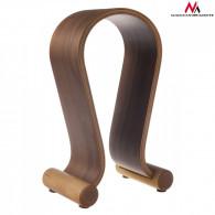 Maclean Headphones Stand Wooden Nut Color MC-815W