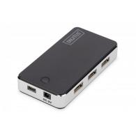 Digitus HUB 7-port USB2.0, incl. power supply, black