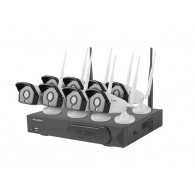 LANBERG WiFi NVR 8 channels + 8 cameras 2MP