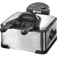 Clatronic FR 3195 4 L Double Black,Stainless steel 2000 W