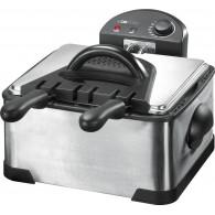 Clatronic FR 3195 4 L Double Black,Stainless steel 2000 W