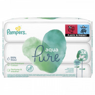 Pampers Baby Wipes Aqua Pure 3 Packs = 144 Wipes