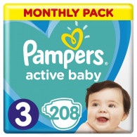 Pampers ABD Monthly Box S3 208 pc(s)