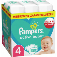 Pampers Active Baby Monthly Pack Boy/Girl 4 180 pc(s)