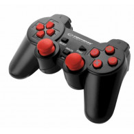Esperanza EGG106R Gaming Controller Gamepad PC,Playstation 2,Playstation 3 Analogue / Digital USB 2.0 Black,Red
