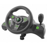 Esperanza EGW102 Gaming Controller Steering wheel PC,Playstation 3 Digital USB Black,Green