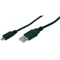 DIGITUS AK-300110-018-S USB cable 1.8 m 2.0 USB A Micro-USB B Black