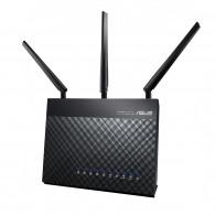 ASUS DSL-AC68U wireless router Dual-band (2.4 GHz / 5 GHz) Gigabit Ethernet 3G Black
