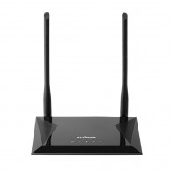 Edimax N300 wireless router Single-band (2.4 GHz) Fast Ethernet Black
