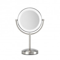 BaByliss 9437E makeup mirror Freestanding Round Stainless steel