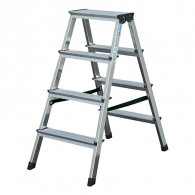 Krause Dopplo double-sided step ladder silver