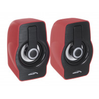 Audiocore Computer Speakers 6W AC855R USB Red