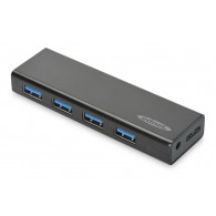Ednet 85155 interface hub USB 3.0 (3.1 Gen 1) Micro-B 5000 Mbit/s Black