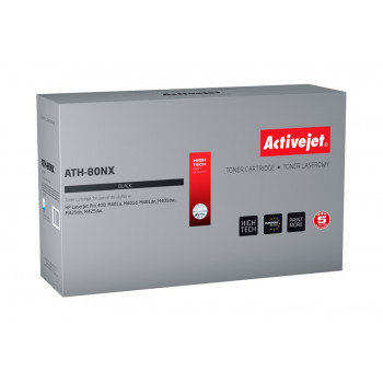 Activejet ATH-80NX toner for HP printer; HP 80X CF280X replacement; Supreme; 6900 pages; black