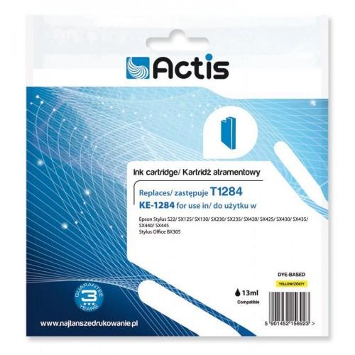 Ink cartridge ACTIS KE-1284 (replacement Epson T1284; Standard; 13 ml; yellow)