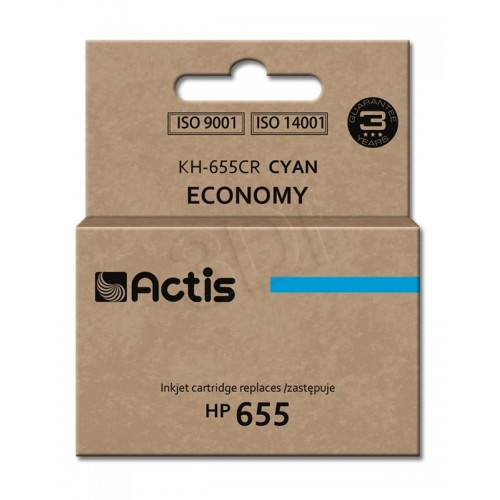 Ink ACTIS KH-655CR (replacement HP 655 CZ110AE; Standard; 12 ml; blue)
